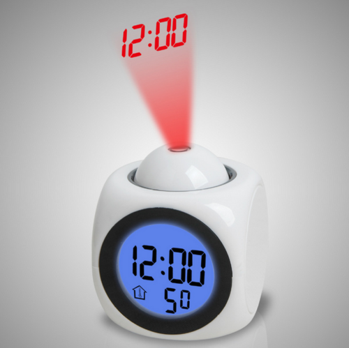 Multi-function Digital Projecting Alarm Clock LCD Voice Talking+snooze Function
