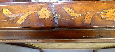 Antique English Inlaid Mahogany Adjustable Firescreen W/French Tapestry.1870 11