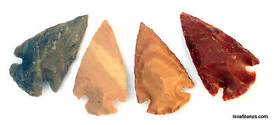*** 35 pc lot flint arrowhead OH collection project spear points knife blade *** 3