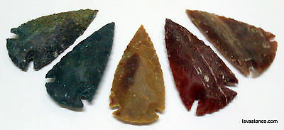 *** 35 pc lot flint arrowhead OH collection project spear points knife blade *** 8