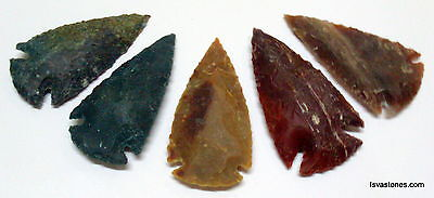 *** 25 pc lot flint arrowhead OH collection project spear points knife blade *** 6