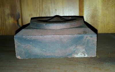 Antique Arts & Crafts Architectural Artifact Red New England Ma Origin Decorate 6