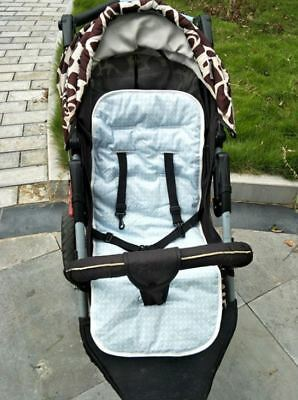 Reversible Cotton Filled Pram Liner Seat Liners Pram & Stroller Accessories