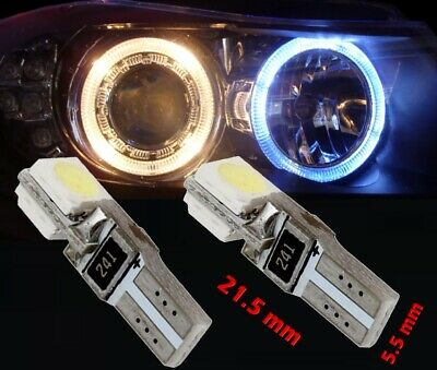 N° 20 LED T5 6000K CANBUS SMD 5050 Faros Angel Eyes DEPO 12v VW Polo 9N 1D3IT 1D