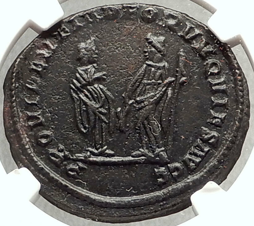 DIOCLETIAN Abdication Issue 305AD Ancient Roman Coin of London NGC AU i67623 2