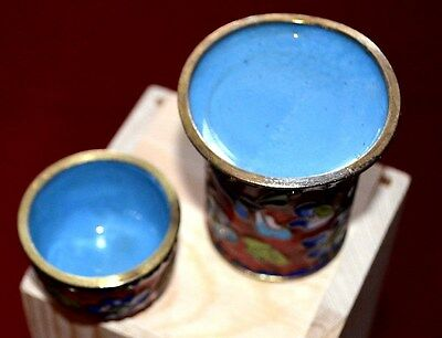 Last Century - Multicolors Hand Crafted Brass Container  And Paint  Enamel