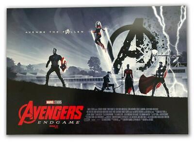 "AVENGERS ENDGAME 11""x15.5"" Set of 2 Original Promo Movie Poster IMAX AMC Marvel 2"