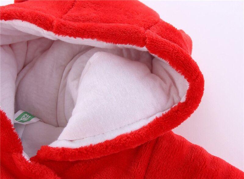 Gb Recién Nacido Bebé de Niña Pelele Terciopelo Traje con Capucha Body Ropa 10