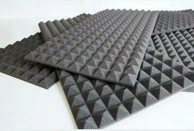 Pannelli Fonoassorbenti Piramidali Poliuretano 100 X 50 X 5Cm 0,5Mq 2