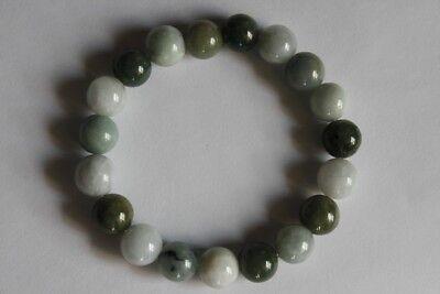 "Gemstone 100% Natural Untreated ""Grade A"" Jadeite JADE Beads Bracelet #Br268 3"