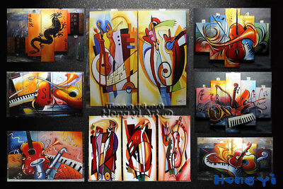 Large Modern Hand-painted Colorful Abstract OIL Painting Canvas Wall Art Framed 11