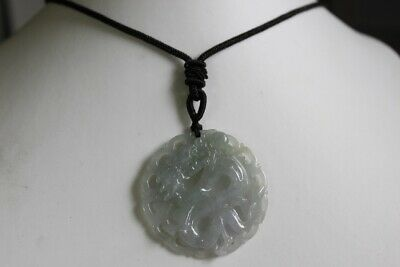 Natural JADE Certified (Grade A) Icy Translucent Jadeite Carved Dragon Pendant 9