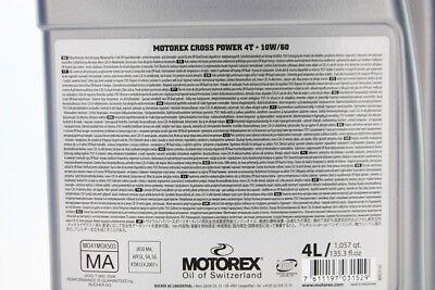 Motorex Cross Power 4T 10W60 4L (14,24 eur / 1L ) 7