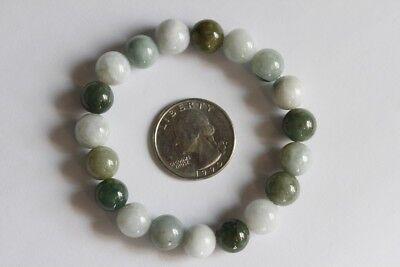 "Gemstone 100% Natural Untreated ""Grade A"" Jadeite JADE Beads Bracelet #Br268 6"