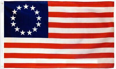 Betsy Ross 3 x 5 FT Flag Set w/ 6-Ft Spinning Flag Pole + Bracket (Tangle Free) 2