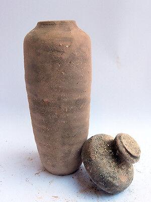 Biblical Ancient Antique Treasures Jug Holy Land Jewish Dead Sea Scroll Jar R 3