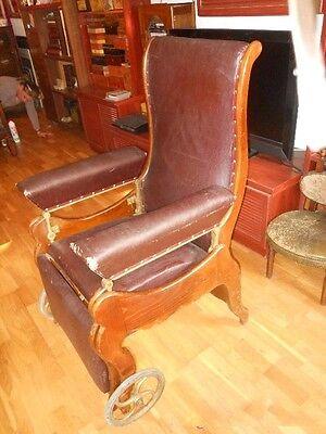 antigua silla de , médico, para clínica . Pieza rarísima de museo. Luneville. 2