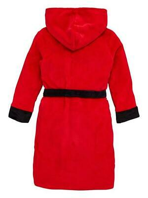 Kids Manchester United Fleece Dressing Gown Bath Robe Boys Gift 3-12 Years