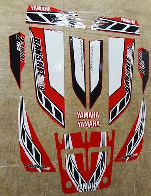 Yamaha banshee quad stickers graphics decal 13pc Special Edition Red/White ATV