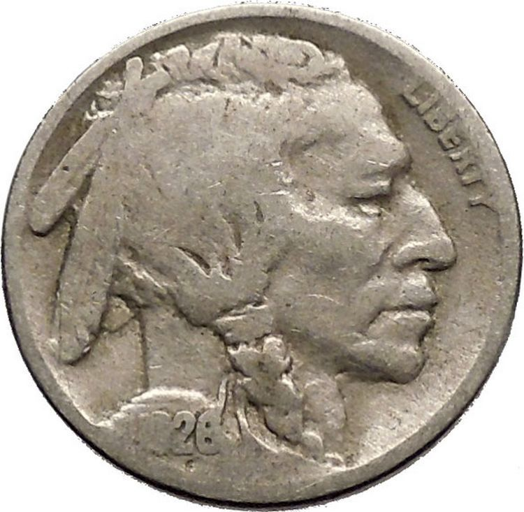 1926 BUFFALO NICKEL 5 Cents of United States of America USA Antique Coin i43684 2
