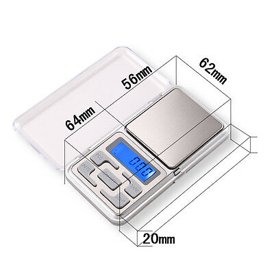 MINI 500g 0.01 DIGITAL ELECTRONIC POCKET SCALES jewellery milligram micro mg 4