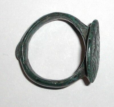 Ancient Byzantine Empire, 8th - 10th c. AD. Bronze Shield Ring 3