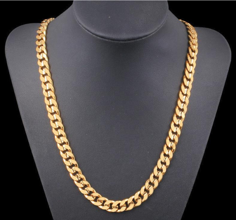 18K GOLDKETTE PANZERKETTE vergoldet 60cm dicke Damen für