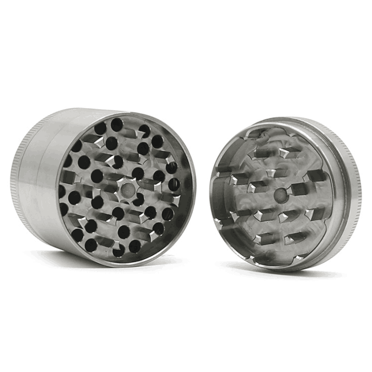 Tobacco Herb Grinder Spice Herbal 4 Piece Metal Chromium Alloy Smoke Crusher 2
