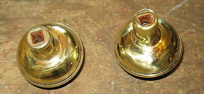 Antique Pair Of Victorian Brass Floral Repousse Door Knobs 3