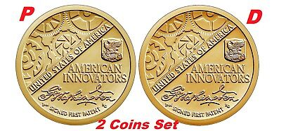 2-coin-set 2018 P-D American Innovation Dollar $1 from US Mint Rolls New Series 2