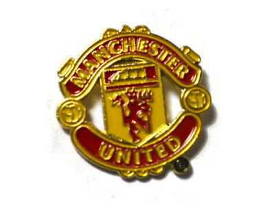 e37d1e4188b0 ... Man Utd MUFC Football Club Metal Pin Badge Crest Red Devil Logo Emblem  Official 2