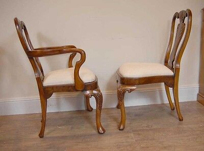 10 English Queen Anne Walnut Dining Chairs Ann Chair 6