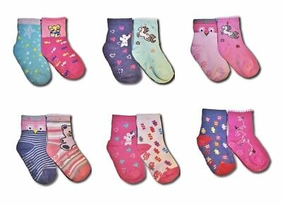 Baby Toddler Girl ABS Anti Non Slip Cotton Socks 2 Pairs Size 3 Months to 3Years 3