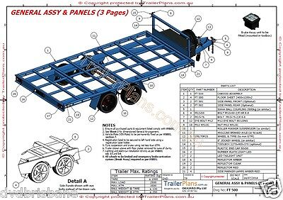Trailer Plans- 4.8m FLAT TOP TRAILER PLANS- PRINTED HARDCOPY-Car Trailer,Flatbed 8