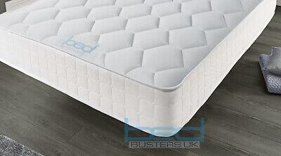 White Memory Foam Spring Mattress - 3ft Single 4ft6 Double 5ft King 6ft Super K 2