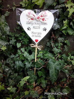 Always in my heart- PET MEMORIAL-Dog-Cat Grave Personalised Plaque 2