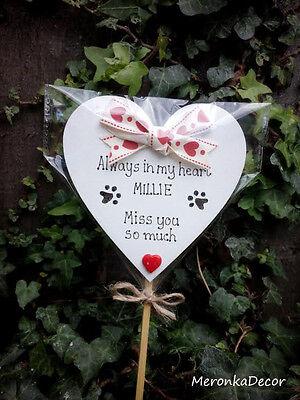 Always in my heart- PET MEMORIAL-Dog-Cat Grave Personalised Plaque 3