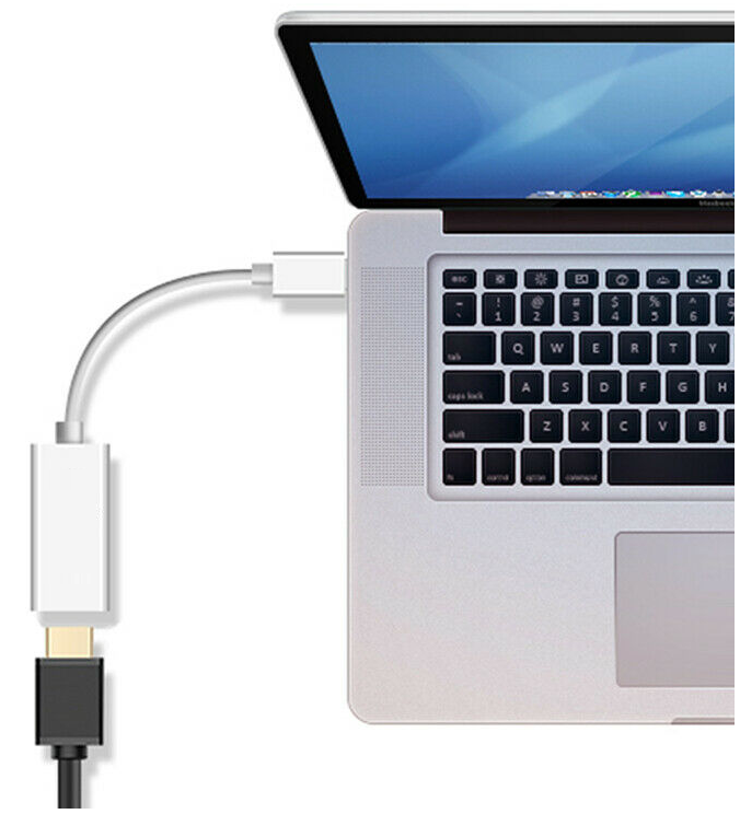 Mini DisplayPort Thunderbolt to HDMI Adapter Compatible with Apple iMac and Mac 5