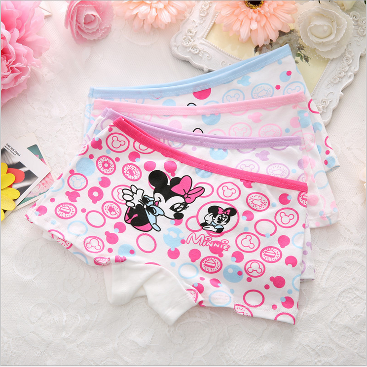 Newborn Baby Girls Minnie Underwear Cartoon boxer children 100/% Cotton panties