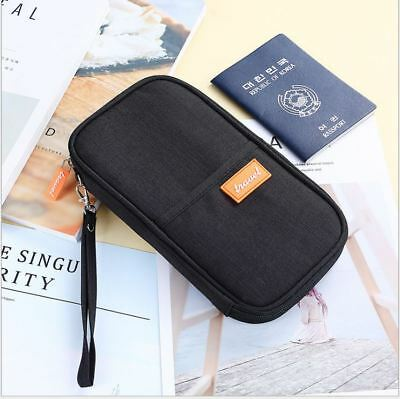 Travel Wallet Passport Holder Credit Card Case Document Ticket Organizer Bag 6