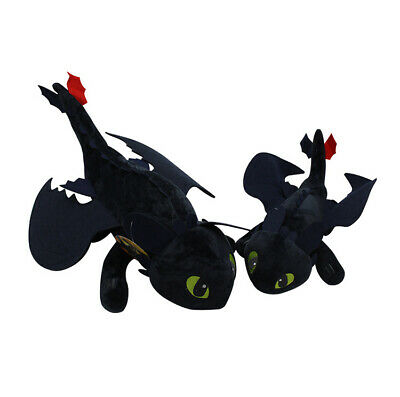 """10""""/14"""" UK How to Train Your Dragon 3 Toothless Night Fury Light Fury Plush Doll 9"""