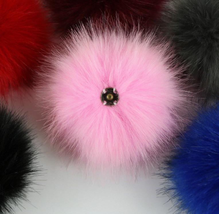 DIY Women Faux Raccoon Fur Pom Poms Ball for Knitting Beanie Hat Accessories Ak 10