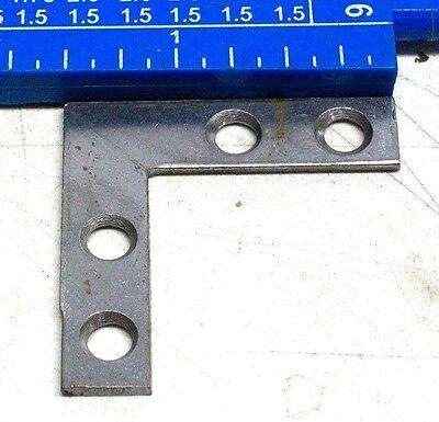 "Lot Of 6 Nos Vintage 1 1/2"" X 1 1/2"" X 3/8"" Wrought Flat Corner Irons Dm 5"