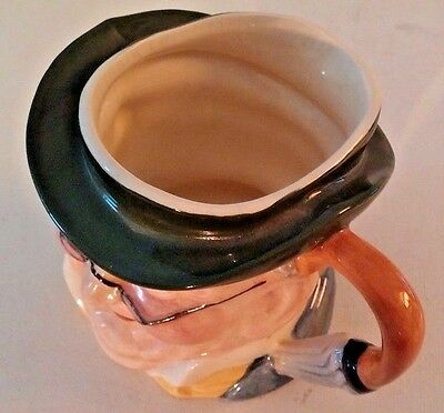 Antique Hand Painted Staffordshire England Character Mr Pickwick Toby Jug Mug 5