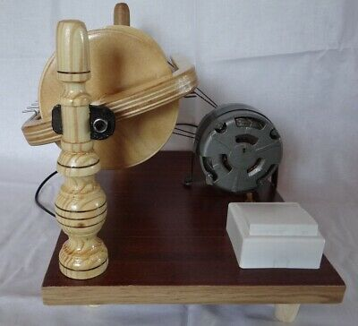New Wooden Electric Spinning Wheel Additional Coils Handmade Russia 2