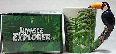 Ceramic Mug TOUCAN Bird in Rain Forest 9319844520058 RAINFTOUM Gift Box 12