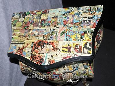 Pair Funky Comic Print Chests of Drawers Deco Commode Bombe 4