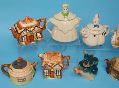 Lot Of Collectible Vintage Figural Tea Pots Lot 184