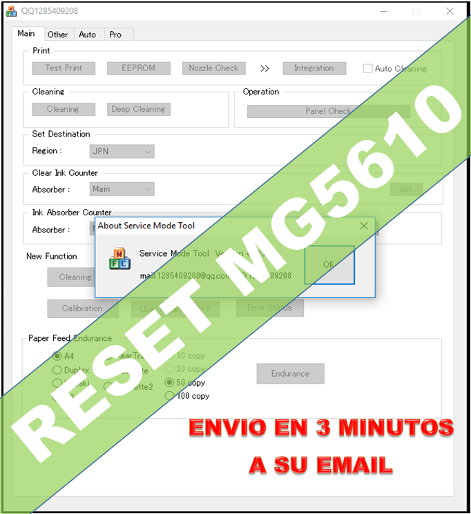RESET CANON G1100 G2100 G3100 G4100 G4100_ reset St 4905_🔑1Pc- Emailed🔥