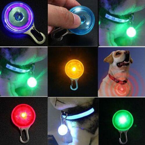 LED Fascinating Pet Dog Cat Puppy Flashing Collar Safety Night Light Pendant /lc 3